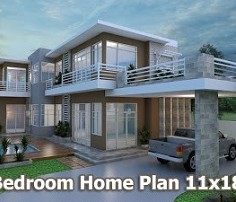home design 3d sketchup villa design plan 11x18m sam architect - Sketchup Home Design