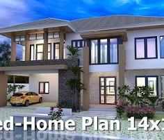 sketchup modeling home design plan size 14x11m sam architect. Interior Design Ideas. Home Design Ideas