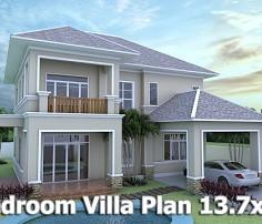 home design 3d sketchup villa plan 137x19m sam architect. Interior Design Ideas. Home Design Ideas