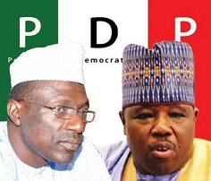 Image result for Lagos PDP members protest against leadership tussle