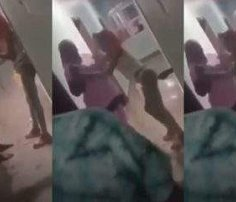 Nigerian mother disgraces daughter after catching her in a hotel room with a man (Video)