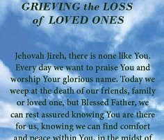 prayers for loved ones lost